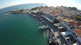 Puerto de Pythagorio en la isla de Samos (1) almacen de metraje de vídeo
