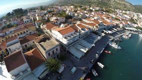 Puerto de Pythagorio en la isla de Samos (2) almacen de video