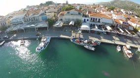 Puerto de Pythagorio en la isla de Samos (3) almacen de metraje de vídeo
