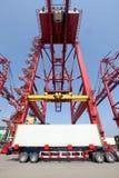 Terminal de contenedores Foto de archivo