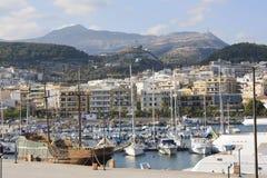 Puerto de Rethymno Foto de archivo libre de regalías