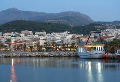 Puerto de Rethymnon Fotos de archivo libres de regalías