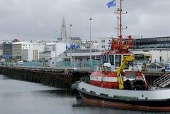 Puerto de Reykjavik Foto de archivo