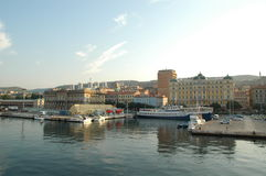 Puerto de Rijeka, Croacia Fotografía de archivo libre de regalías