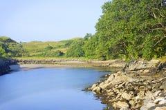 Puerto de Roshin, Killybegs, playa de herradura Imagenes de archivo