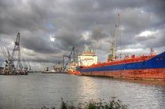 Puerto de Rotterdam Foto de archivo libre de regalías