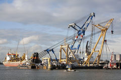 Puerto de Rotterdam Imagenes de archivo