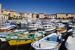 Puerto de Rovinj Imagen de archivo libre de regalías