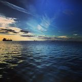 Puerto de Sal?nica imagen de archivo libre de regalías