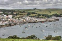 Puerto de Salcombe, Devon, Reino Unido foto de archivo