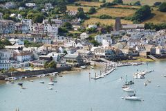 Puerto de Salcombe, Devon, Reino Unido fotografía de archivo