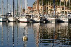 Puerto de Sanary Imagenes de archivo