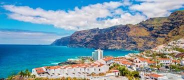 Puerto de Santiago city, Tenerife royalty free stock image