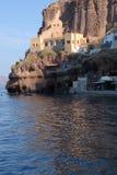 Puerto de Santorini Fotografía de archivo libre de regalías