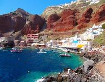 Puerto de Santorini Oia imagen de archivo libre de regalías