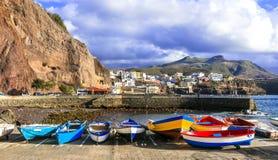 Puerto de Sardina - traditional fishing village in Gran Canaria. Canary islands royalty free stock photography