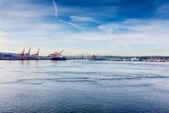 Puerto de Seattle Elliot Bay Fotografía de archivo