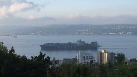 Puerto de Seattle, Estados Unidos almacen de video