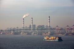 Puerto de Shangai Fotografía de archivo