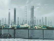 Puerto de Sharja Fotos de archivo