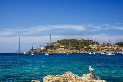 Puerto de Soller en Mallorca Fotografía de archivo libre de regalías
