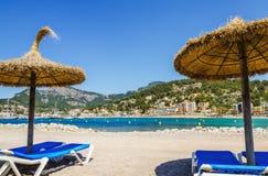 Puerto de Soller en Mallorca Imágenes de archivo libres de regalías