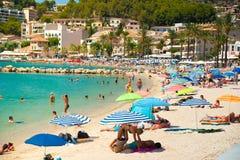 Puerto de Soller, Hafen von Mallorca-Insel Stockbild