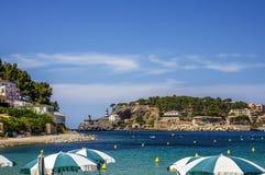 Puerto de Soller i Mallorca Arkivbilder