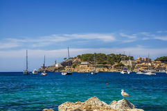 Puerto de Soller in Mallorca Royalty Free Stock Photography