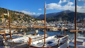 Puerto de Soller Mallorca Spanien Arkivfoto