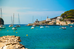 Puerto de Soller, Port of Mallorca island Stock Photos