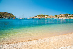 Puerto de Soller, Port of Mallorca island Royalty Free Stock Image