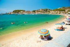 Puerto de Soller, Port of Mallorca island Royalty Free Stock Photos