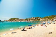 Puerto de Soller, puerto de isla de Mallorca foto de archivo libre de regalías
