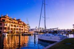 Puerto de Sotogrande fotos de archivo libres de regalías