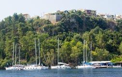 Puerto de Spartohori, Meganisi Imagen de archivo