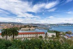 Puerto de Spezia del La Camogli, Italia Foto de archivo