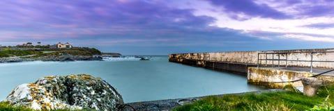 Puerto de St Helens de la puesta del sol Imagen de archivo