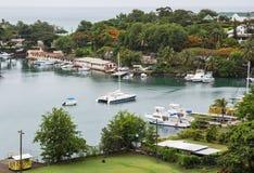 Puerto de St Lucia y de Castries fotografía de archivo