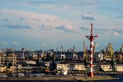 Puerto de St Petersburg Imagen de archivo libre de regalías