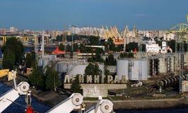 Puerto de St Petersburg, Rusia Imagenes de archivo