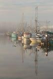 Puerto de Steveston, niebla de la mañana Imagen de archivo libre de regalías