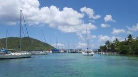 Puerto de StThomas Foto de archivo