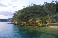 Puerto de Sydney del promontorio de Bush Fotos de archivo libres de regalías