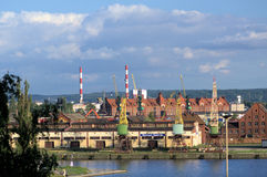 Puerto de Szczecin Imágenes de archivo libres de regalías