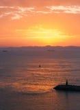 Puerto de Túnez en la mañana Fotos de archivo libres de regalías
