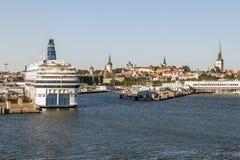 Puerto de Tallinn Estonia Fotos de archivo