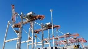 Puerto de terminal de contenedores de Tauranga Fotografía de archivo