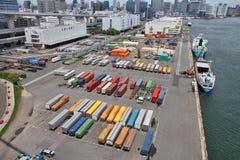 Puerto de Tokio fotos de archivo libres de regalías