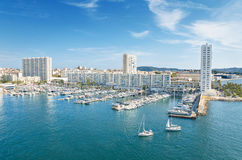 Puerto de Toulon, Francia Imágenes de archivo libres de regalías